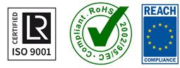 certifiée ISO 9001 / RoHS 2002/95/EC / Reach COMPLIANCE